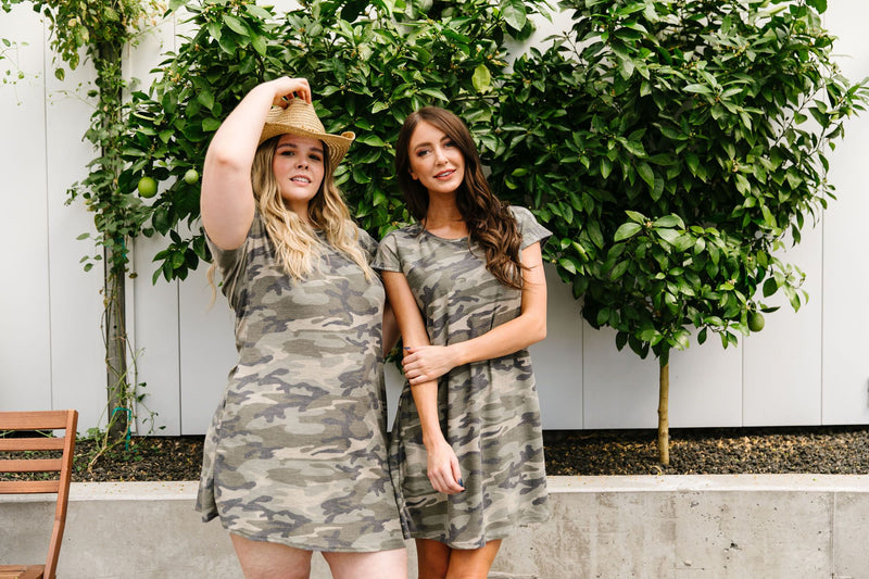 Watch Your Back Camo Dress