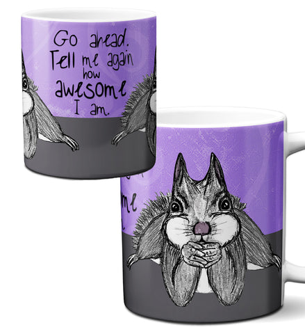 Awesome Squirrel Mug by Pithitude