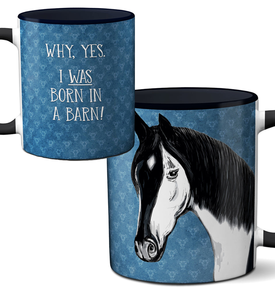 Barn Horse Black Mug by Pithitude