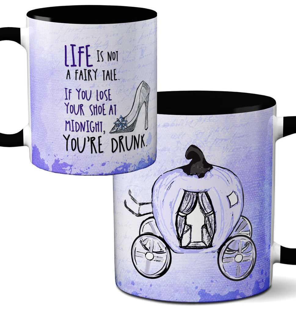 Drunk Fairy Tale Black Mug by Pithitude