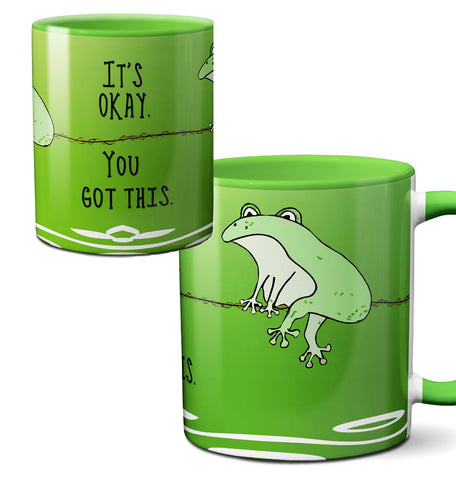 You Got This Funny Green Frog Mug