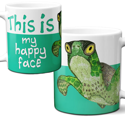Sea Turtle Happy Face Mug