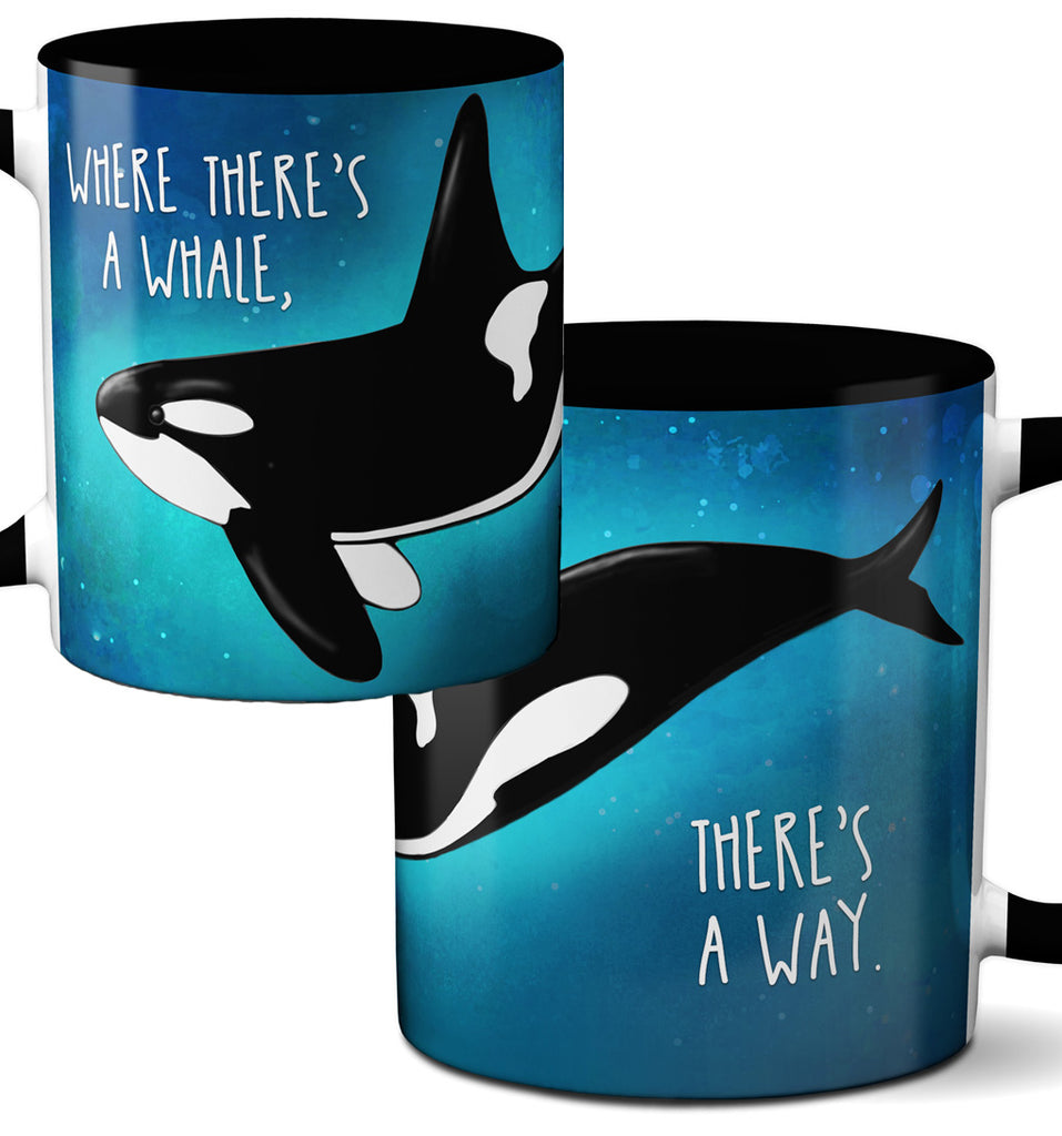 Orca Whale Way Black Coffee Mug by Pithitude