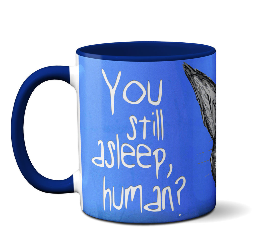 Peeking Cat Human Mug by Pithitude