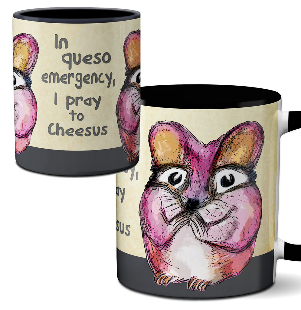 Queso Mouse Funny Quote Mug by Pithitude