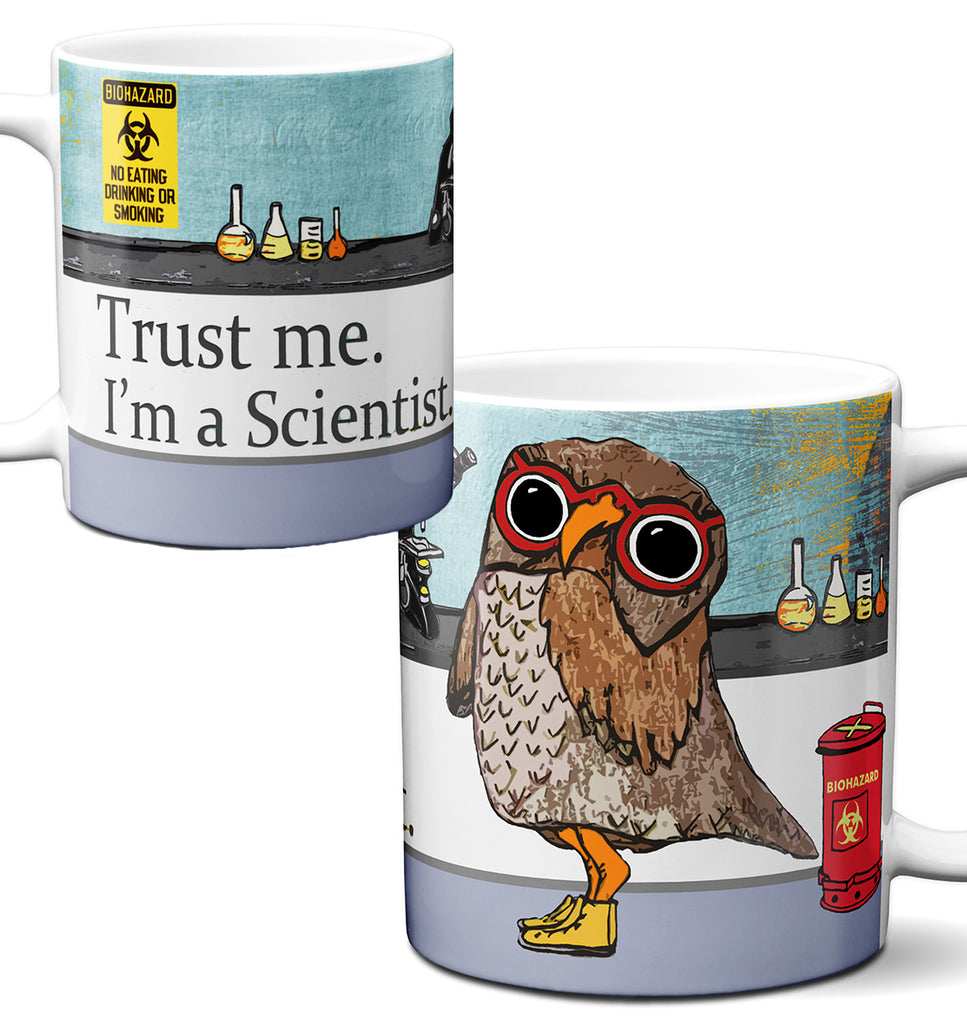 Scientist Owl Trust Me Mug by Pithitude