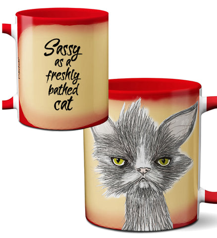 Sassy Cat Mug by Pithitude