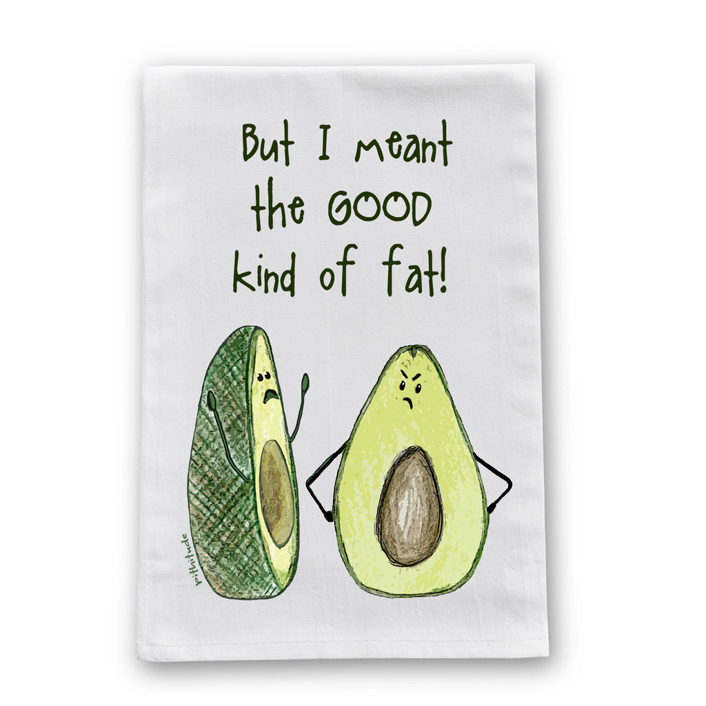 Avocado Fat Flour Sack Dish Towel