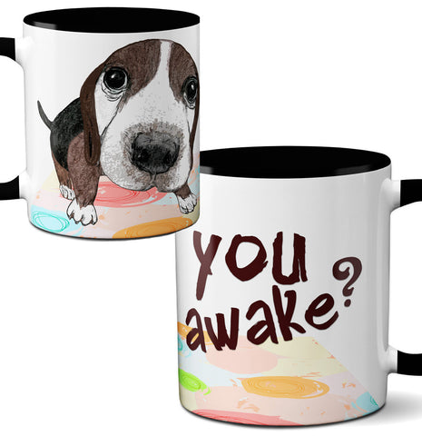 You Awake Beagle Mug by Pithitude