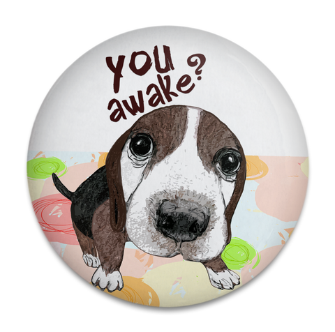 Awake Beagle Dog Magnet