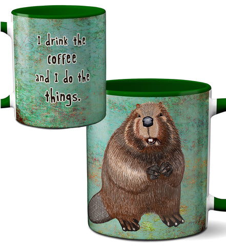 Beaver Things Mug by Pithitude
