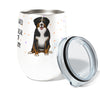 Bernese Mountain Dog Shedding 12oz Insulated Stainless Steel Wine or Coffee Tumbler with Clear Lid