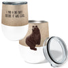 Big Butt Bear 12oz Insulated Stainless Steel Wine or Coffee Tumbler with Clear Lid