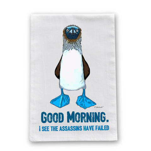 Blue Footed Boobie Assassin Flour Sack Dish Towel