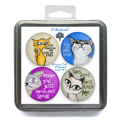Bossy Cats Magnet Set #1