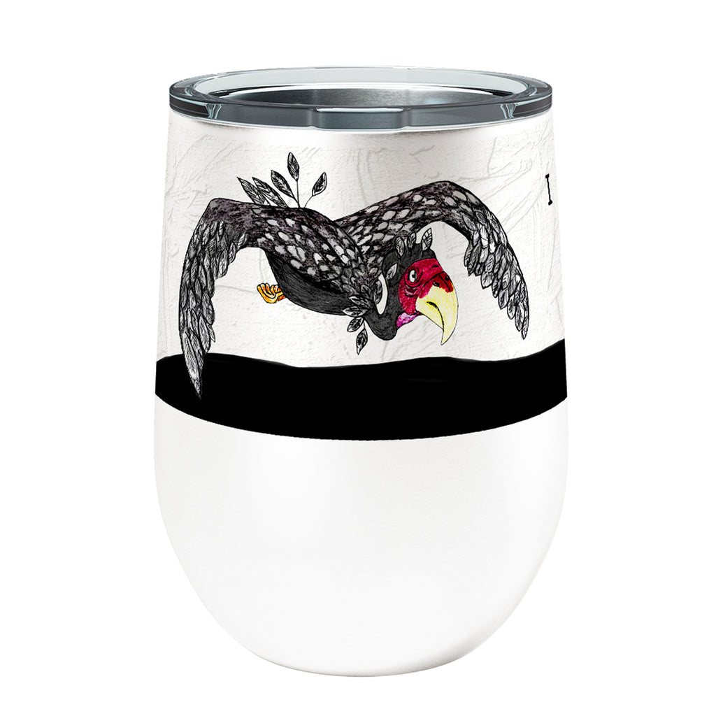 Black Buzzard 12oz Stemless Insulated Stainless Steel Wine Tumbler