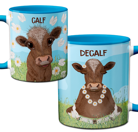 Calf Decalf Mug by Pithitude