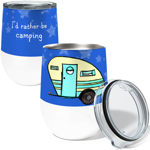 Rather Be Camping Stainless Steel Wine or Coffee Tumbler