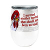Chicken Meeting 12oz Stemless Insulated Stainless Steel Wine Tumbler