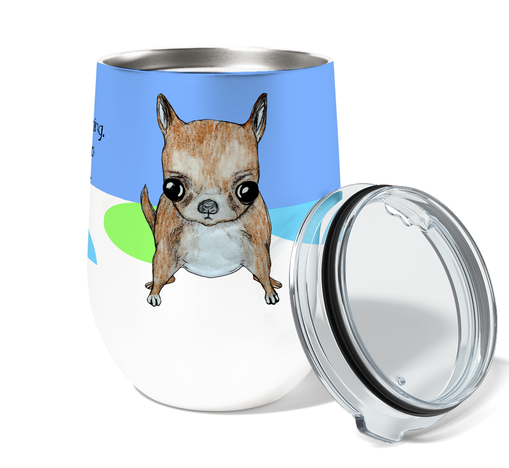 Crazy Chihuahua 12oz Stemless Insulated Stainless Steel Wine Tumbler