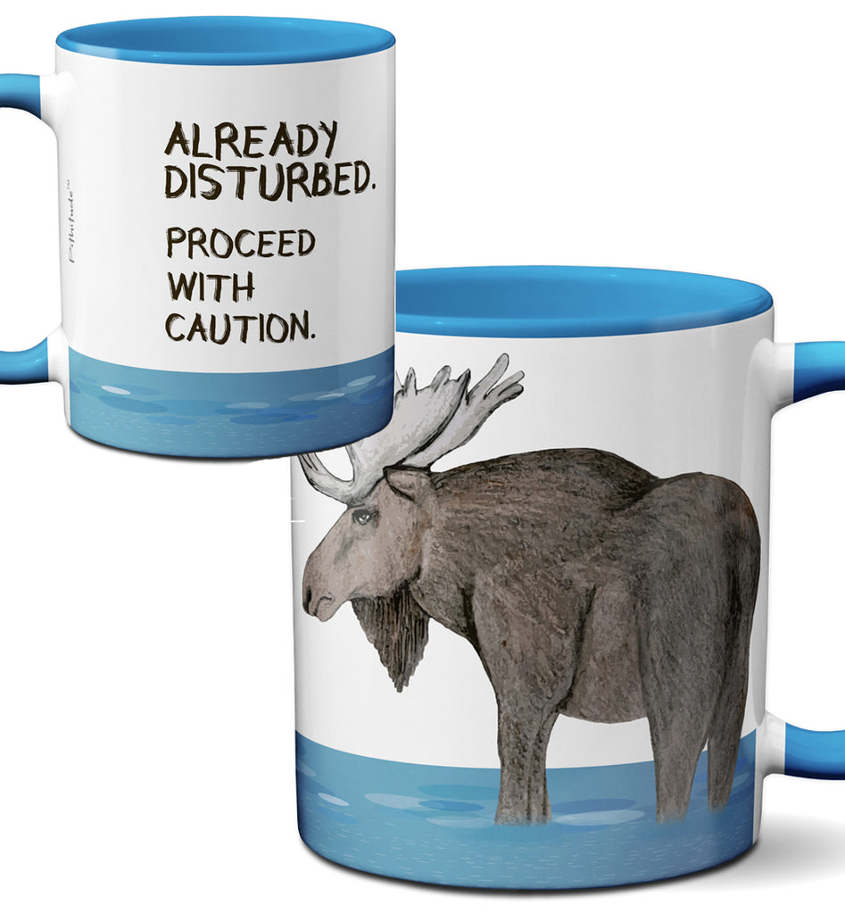 Disturbed Moose Mug by Pithitude