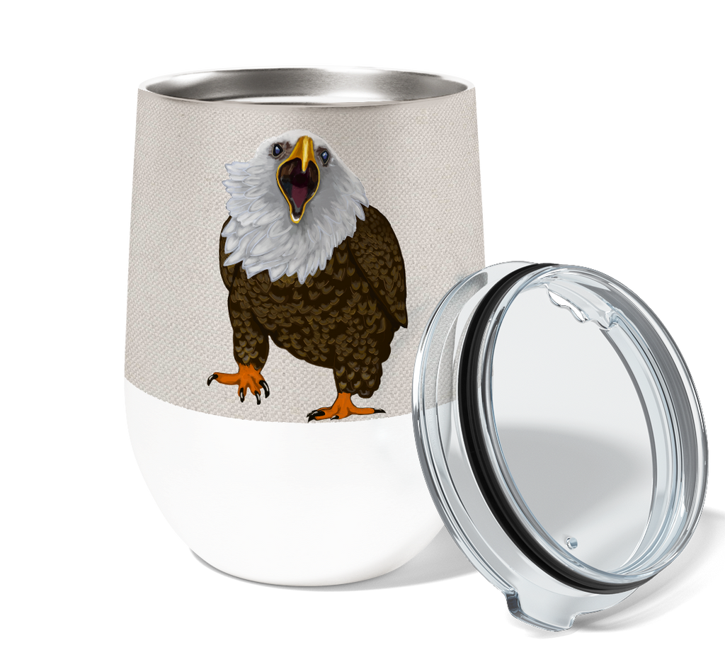 Eagle More Wine 12oz Stemless Insulated Stainless Steel Tumbler