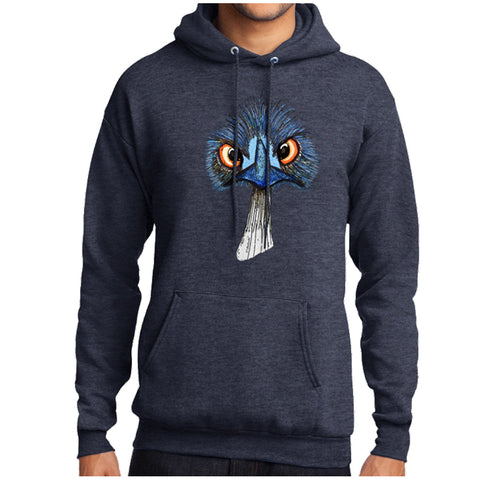 Pithitude Emu Sweatshirt Navy Heather Hoodie