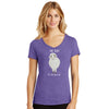Ewe Crazy Womens V-neck T-Shirt