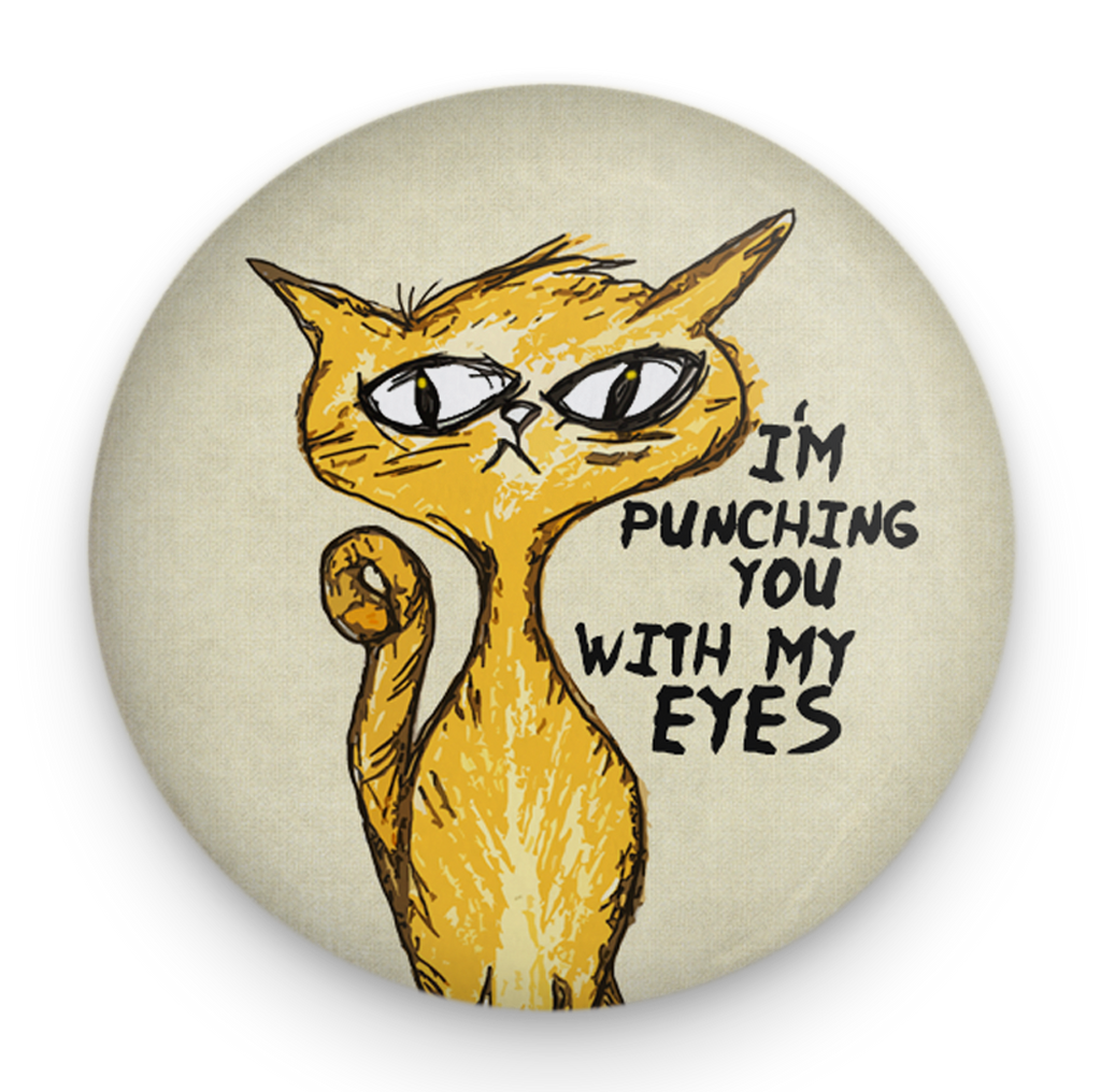 Eye Punch Cat Magnet