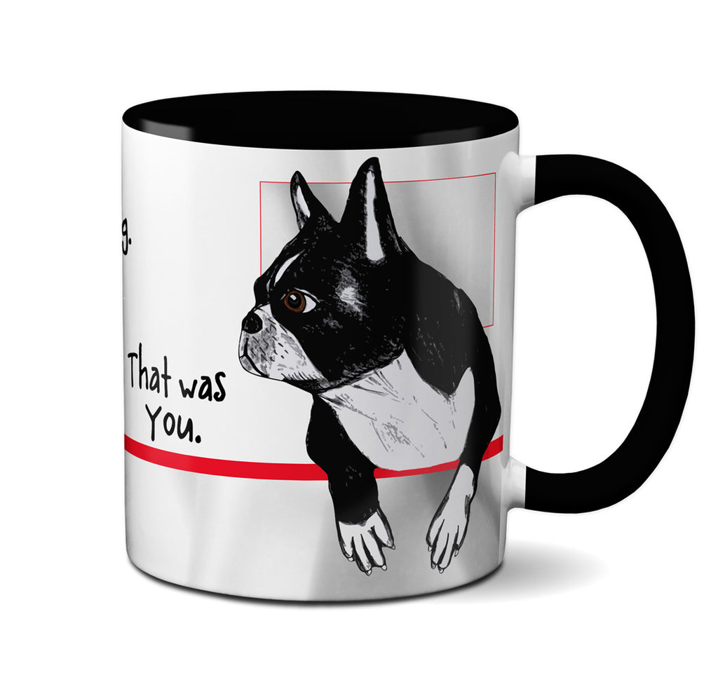 Farting Boston Terriers Black Mug