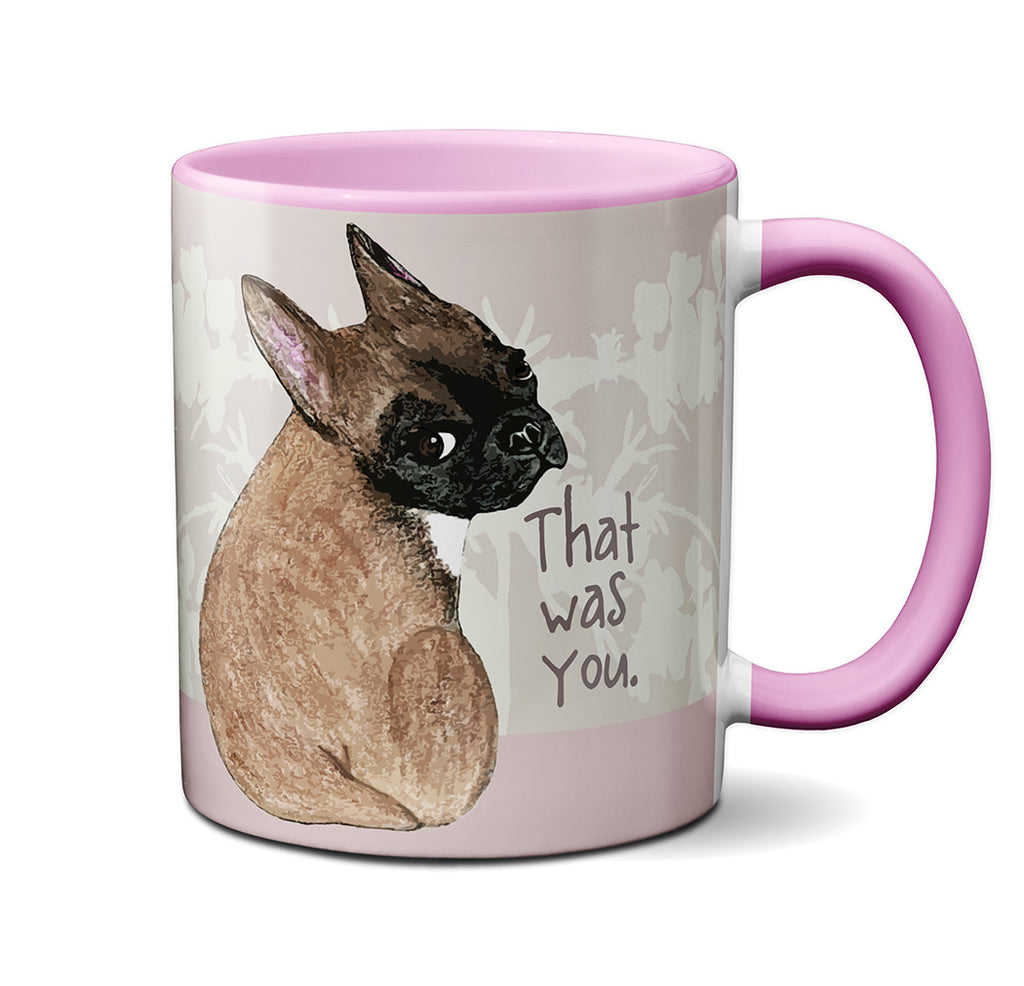 Farting Frenchie Pink Mug by Pithitude