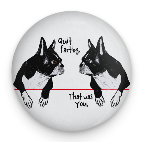 Farting Boston Terriers Magnet