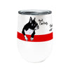 Farting Boston Terriers 12oz Stemless Insulated Stainless Steel Wine or Coffee Tumbler