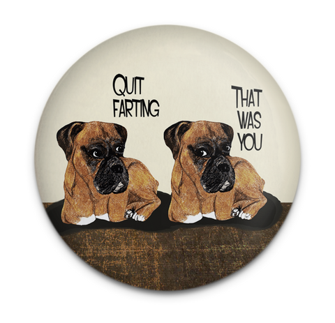 Farting Boxer Dog Magnet
