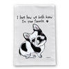 Favorite French Bulldog Flour Sack Dish Towel