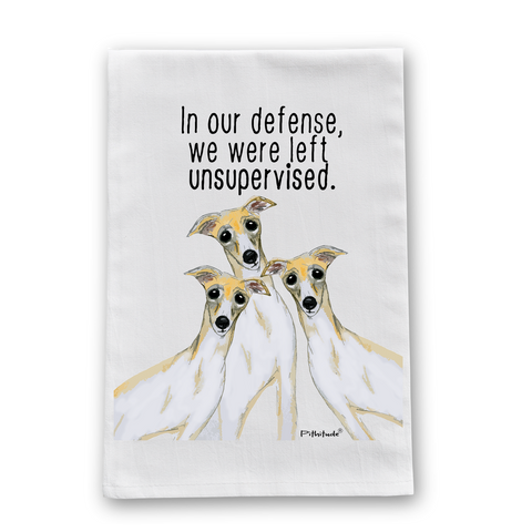 Unsupervised Greyhounds Flour Sack Dish Towel