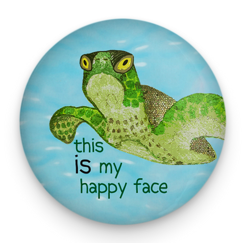 Happy Face Sea Turtle Magnet