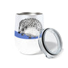 Morning Hedgehog  12oz Stemless Insulated Stainless Steel Wine or Coffee Tumbler