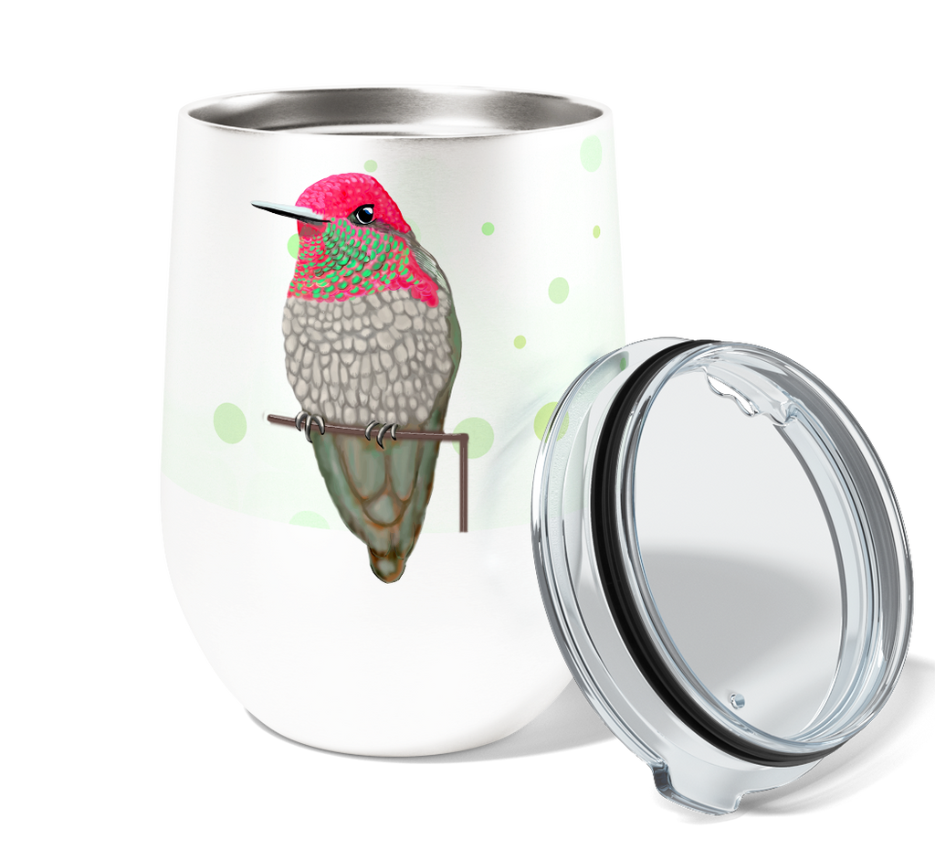 Hummingbird Patio 12oz Stemless Insulated Stainless Steel Wine Tumbler