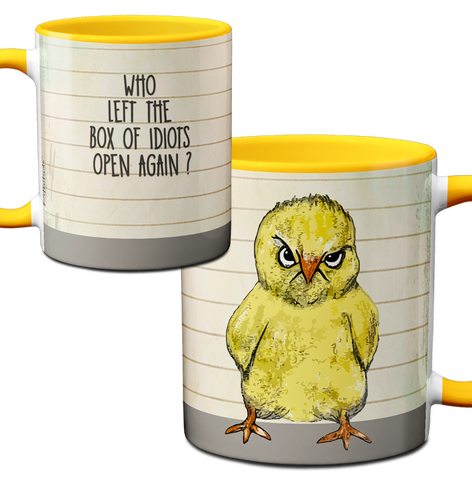 Idiot Box Chick Mug by Pithitude