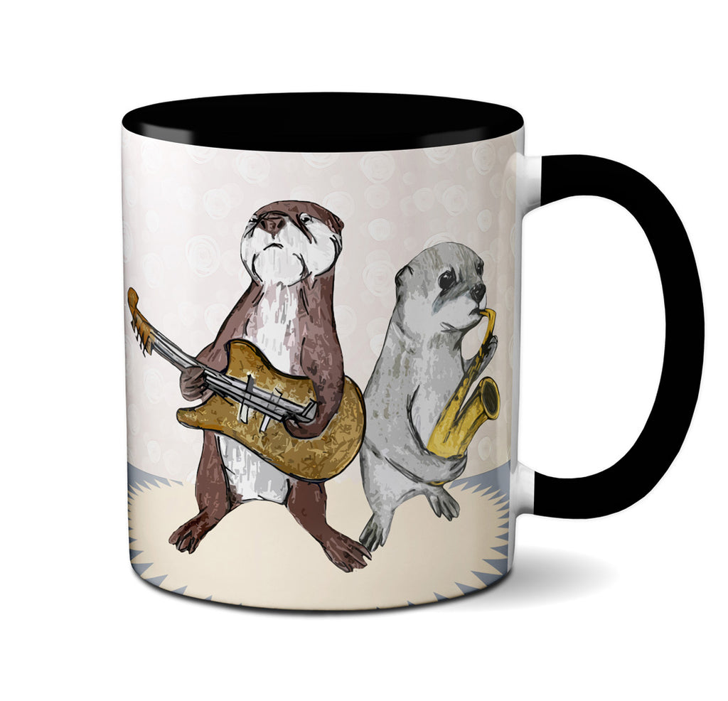 Impressed Otters Band Mug by Pithitude