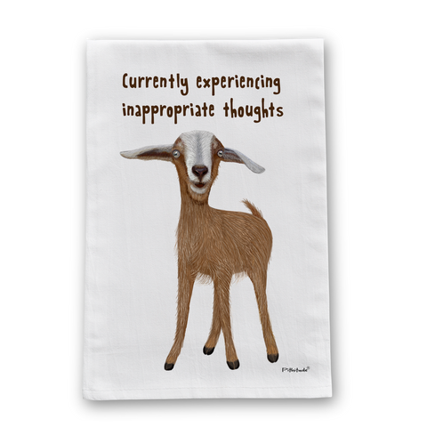 Inappropriate Goat Flour Sack Dish Towel
