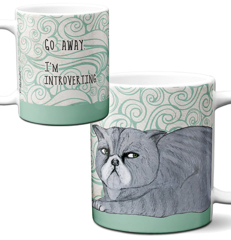 Introverting Cat Mug by Pithitude