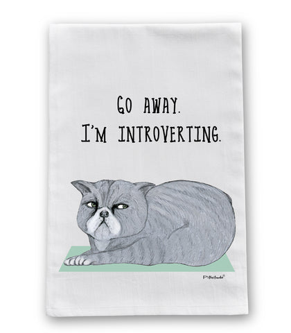 Introverting Cat Dish Towel