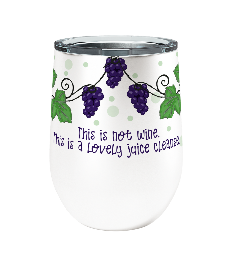 Juice Cleanse 12oz Stemless Insulated Stainless Steel Wine Tumbler
