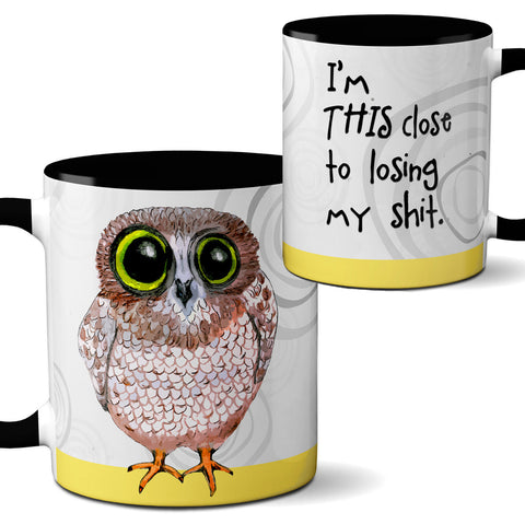 Losing it Owl Mug by Pithitude