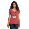 Losing It Owl Womens Red V-Neck T-Shirt
