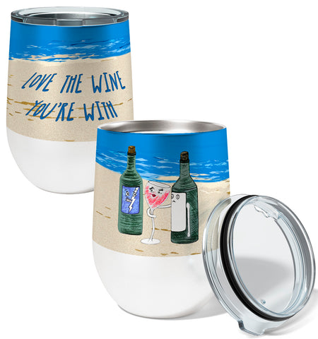 Love the Wine 12oz Stemless Insulated Stainless Steel Wine Tumbler