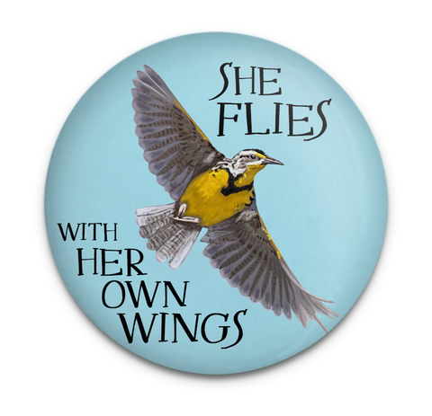 Meadowlark Flies Magnet