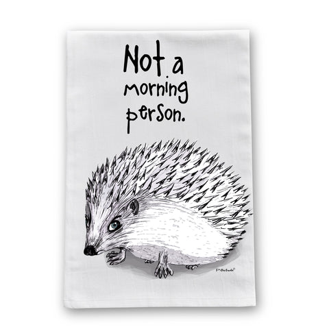 Morning Hedgehog Flour Sack Dish Towel